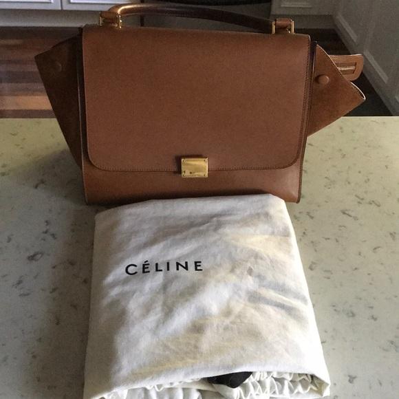 Celine Handbags - Celine Trapeze in lambskin leather